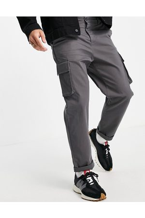 ASOS Relaxed cargo trousers in washed black