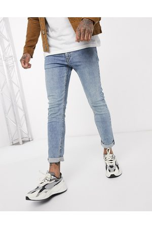 Levi's Levi's Youth 519 super skinny fit hi-ball roll jeans in pickles advanced stretch light wash-Blue