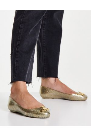 Vivienne Westwood Glitter orb jelly shoes in gold