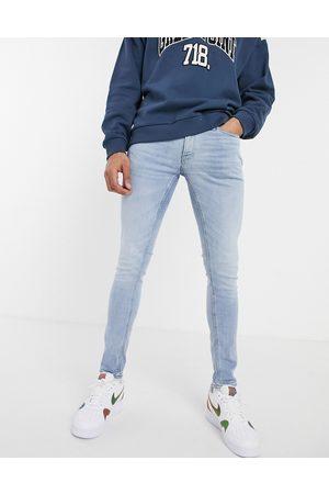 JACK & JONES Intelligence Liam skinny fit jeans in light blue