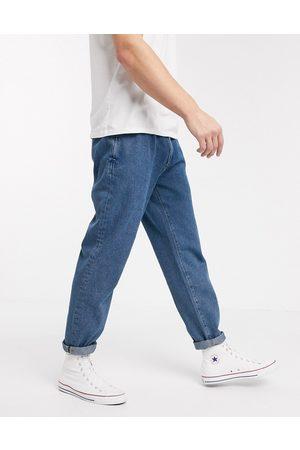 ASOS Double pleat jeans in light blue