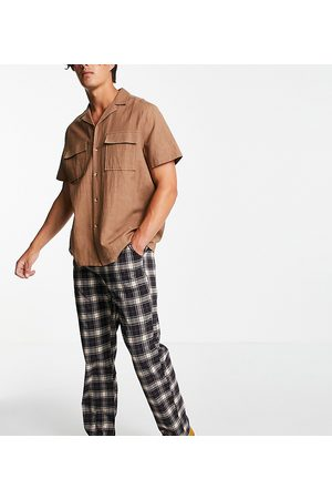 Reclaimed Inspired cutabout check trouser-Multi