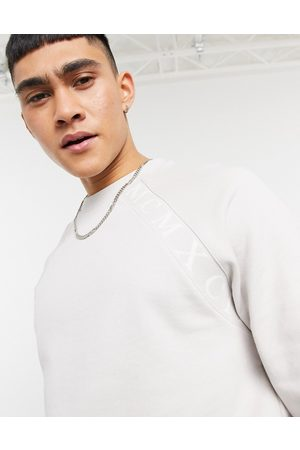 ASOS Co-ord sweatshirt with raglan detail & Roman numerals taping in dusty grey