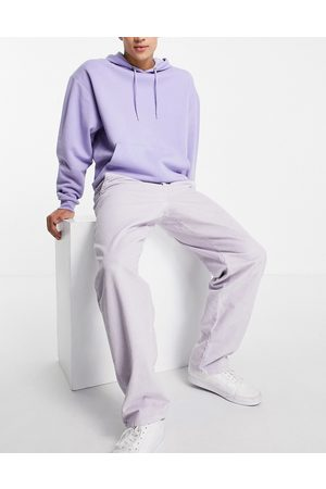 ASOS Baggy trousers in lilac cord-Purple