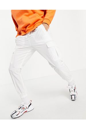 Karl Kani Signature co-ord track pants in off white