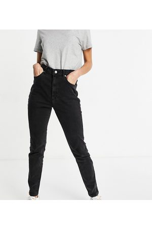 ASOS ASOS DESIGN Tall hourglass high rise farleigh 'slim' mom jeans in washed black