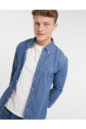Polo Ralph Lauren Slim fit denim shirt in mid wash blue