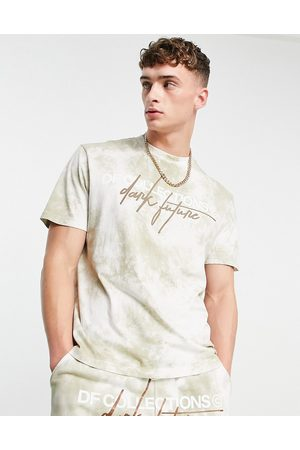 ASOS Co-ord relaxed t-shirt in washed brown with logo embroidery