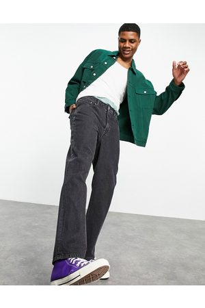 ASOS Straight leg jeans in washed black