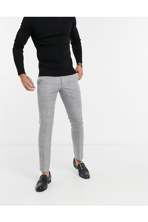 Moss Bros Moss London slim fit suit trousers in black & white check