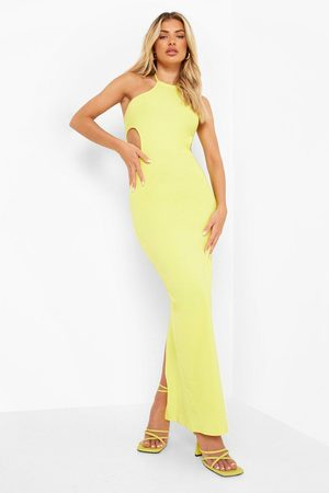 Boohoo Strappy Racer Neck Cut Out Maxi Dress