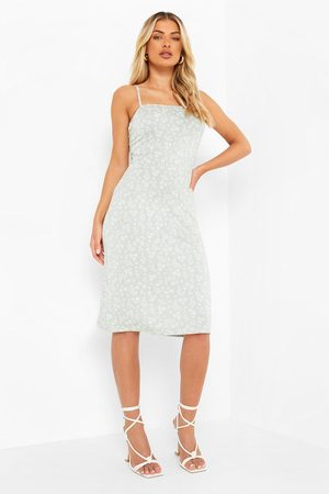 Boohoo Short Sleeve Top&ditsy Floral Midi Slip Dress