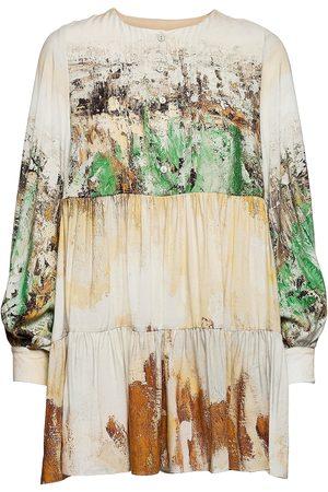 Black Halo Reidar Prairie Mini Dress Kort Kjole Hvit