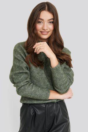 NA-KD Dame Strikkegensere - Wool Blend Raglan Sleeve Sweater