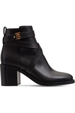Burberry 70mm New Pryle Leather Ankle Boots