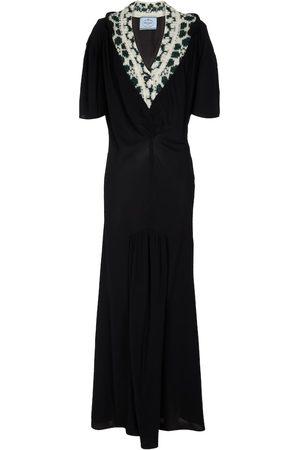 Prada Sablé and jacquard gown