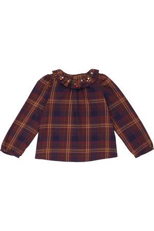 BONPOINT Checked cotton blouse