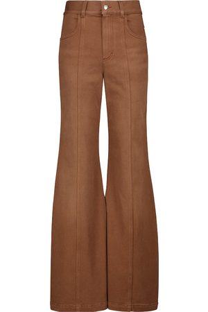 Chloé High-rise bell-bottom pants