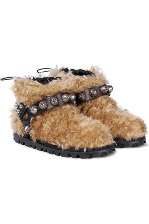 Miu Miu Studded teddy ankle boots