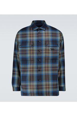 Prada Checked wool padded overshirt