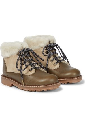 BONPOINT Henry faux fur-trimmed boots