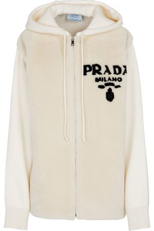 Prada Shearling and cashmere hoodie
