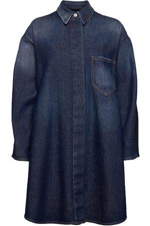 MM6 MAISON MARGIELA Dame Kjoler - Coat Dresses Shirt Dresses Blå
