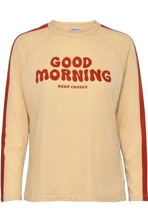Bobo Choses Good Morning Long Sleeve Organic Cotton T-Shirt T-shirts & Tops Long-sleeved Gul