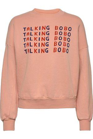 Bobo Choses Talking Bobo Pink Sweatshirt Sweat-shirt Genser