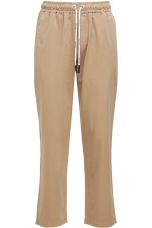 PALM ANGELS Washed Logo Cotton Chinos