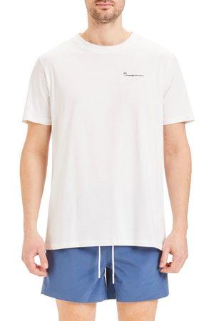 Knowledge Cotton Apparal T-skjorter - Alder Tee With Knowledge Print - Gots/Vegan