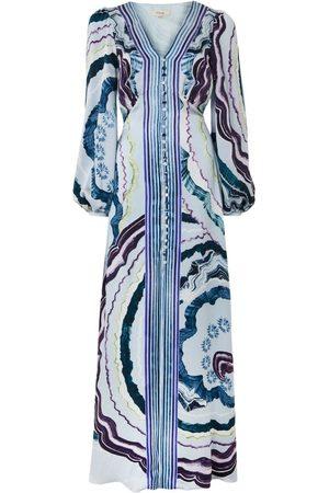 TEMPERLEY LONDON Leonie Print V-neck Dress