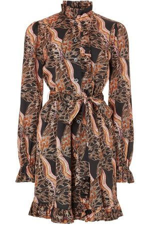 TEMPERLEY LONDON Butterfly Print Dress
