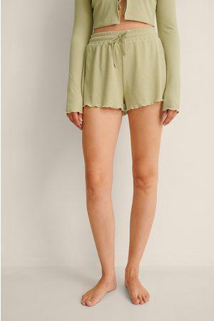 NA-KD Dame Shorts - Resirkulert Loungewear Shorts Med Ribber