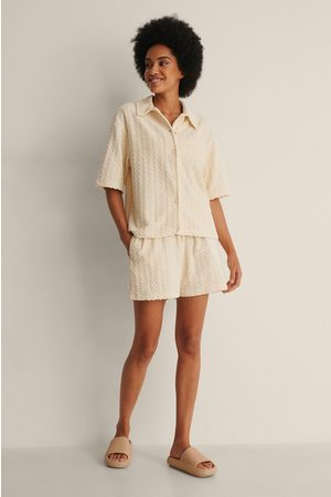NA-KD Dame Bluser - Terry Cloth Skjorte