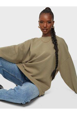 Pieces Dame Sweatshirts - Pcchilli Ls Oversized Sweat D2D Silver Mink