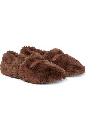 Gianvito Rossi Boo faux fur flats