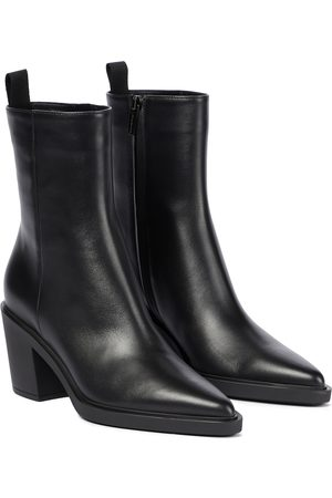 Gianvito Rossi Dylan leather ankle boots