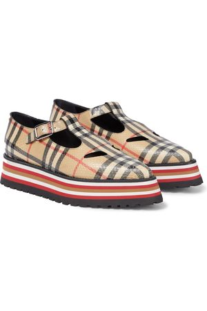 Burberry Aldwych checked leather loafers