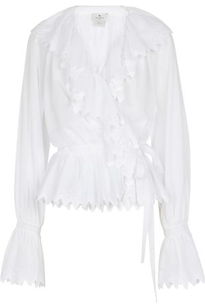 Etro Lace-trimmed ruffled cotton top