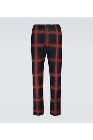 Marni Checked wool straight-leg pants