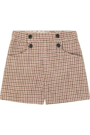 BONPOINT Diplôme houndstooth cotton and wool shorts