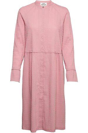 Mads Norgaard Crinckle Pop Dupina Dress Knelang Kjole