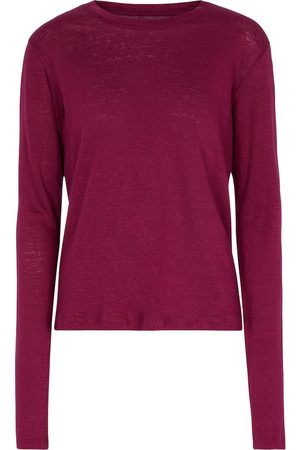Isabel Marant Dame Langermede - Kaaron linen T-shirt