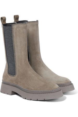 Brunello Cucinelli Dame Skoletter - Suede Chelsea boots