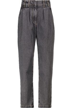 Brunello Cucinelli High-rise tapered jeans