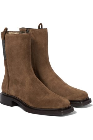 Brunello Cucinelli Suede ankle boots