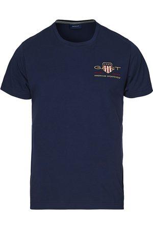 GANT Herre Kortermede - Archive Shield Logo Crew Neck Tee Evening Blue