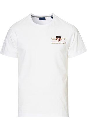 GANT Herre Kortermede - Archive Shield Logo Crew Neck Tee White