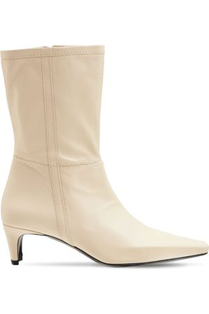 Staud 50mm Lars Leather Ankle Boots